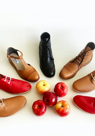 Zapatos veganos hechos en Chile: menos animales y más manzanas